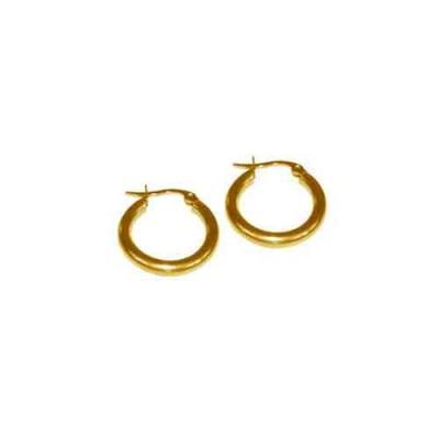 PENDIENTE 2 mm 316 L, IP GOLD, 10 mm E10002/GOL.10