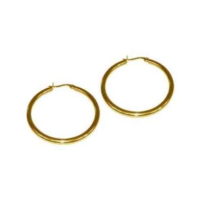 PENDIENTE 2 mm 316 L, IP GOLD, 40 mm E10002/GOL.40