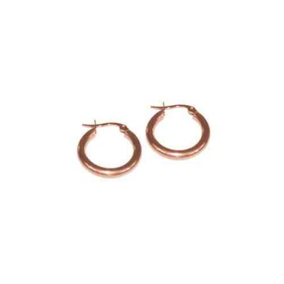 PENDIENTE 2 mm 316 L, IP ROSE, 10 mm E10002/ROS.10