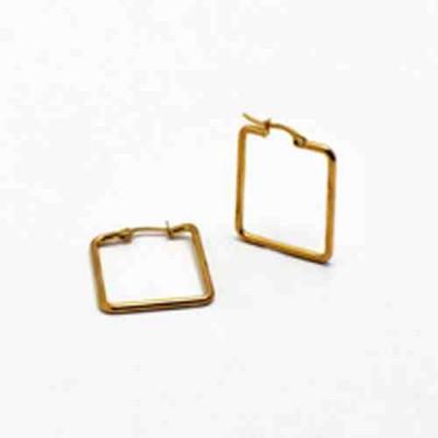 PENDIENTE 2 mm ACERO 316 L, IP GOLD, 30 mm E10012/GOL.30