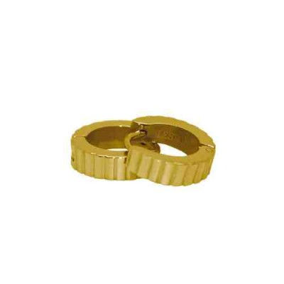 PENDIENTE SS 316 L, IP GOLD 12*4 mm E10107/GOL.00