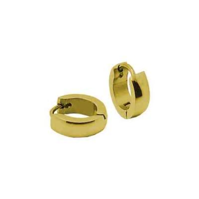 PENDIENTE SS 316 L, IP GOLD, 10*2 mm E10108/GOL.00