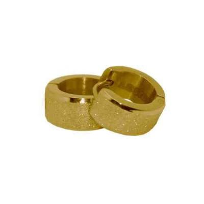 PENDIENTE SS 316 L, DIAMANTADO GOLD 12*7 mm E10110/GDO.00