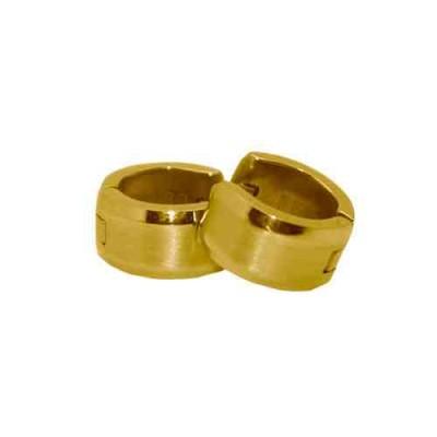 PENDIENTE SS 316 L, IP GOLD 12*7 mm E10110/GOL.00