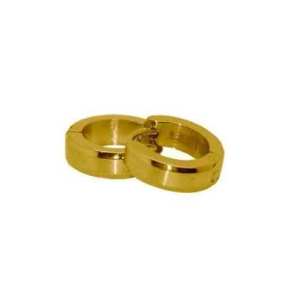 PENDIENTE SS 316 L, IP GOLD 12*4 mm E10111/GOL.00