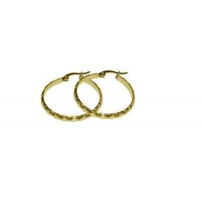 PENDIENTE ACERO 316 L, IP GOLD E10121/GOL.00