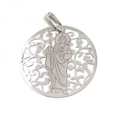 Medalla San Judas Tadeo en plata de ley 35mm MJT003P