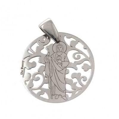 Medalla San Judas Tadeo en plata de ley 25mm MJT005P
