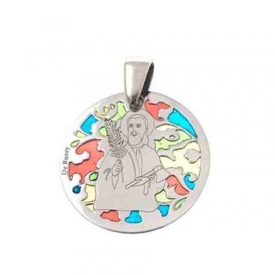 Medalla San Judas Tadeo en plata de ley 25mm MJTM005EP