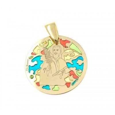 Medalla San Judas Tadeo en plata de ley Chapada 25mm MJTM005ED