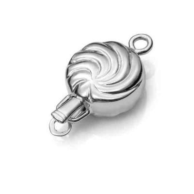 Broche de collar rodiado 1 vuelta.AG-925 75225