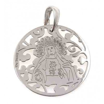 Medalla Virgen de Amargura plata 25mm MAG005P