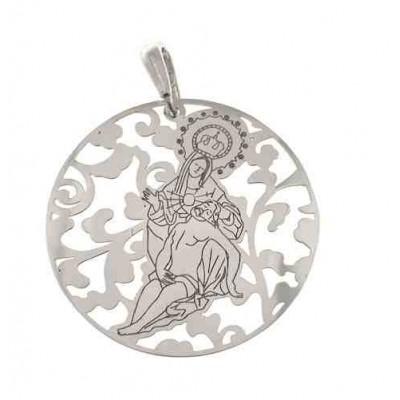 Medalla Virgen Caridad Plata Ley 925m 40 mm MCR008P