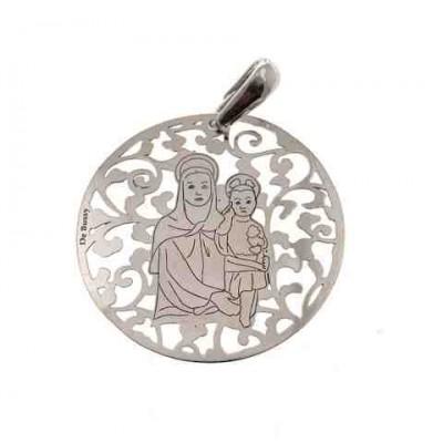 Medalla Madre del Amor Hermoso en Plata de Ley 35mm MAH003P