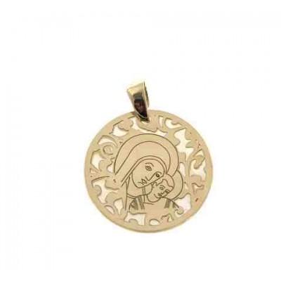 Medalla Virgen del Camino en plata de ley Chapado 25mm MC005ND