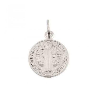 Medalla San Benito en plata de ley 15 mm DBSB1.5