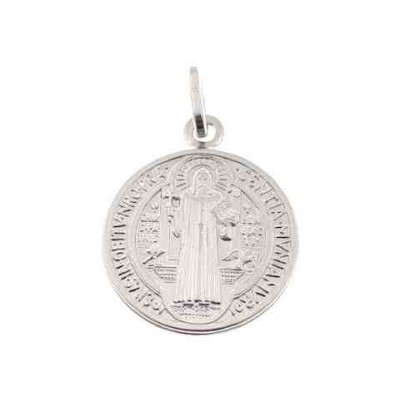 Medalla San Benito en plata de ley 18 mm DBSB1.8