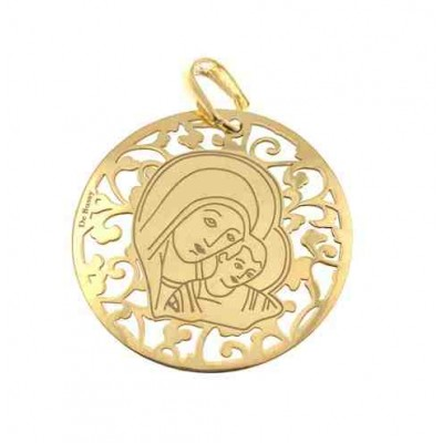 Medalla Virgen del Camino en plata de ley Chapado 35mm MC003D