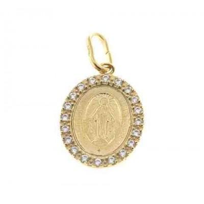 Medalla Virgen de la Milagrosa en Plata de Ley Chapada JCC37D