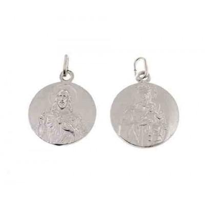 Medalla escapulario en plata de ley 20mm ME6