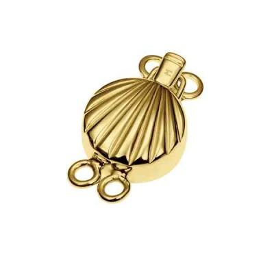 Broche de collar dorado 2 vueltas.AG-925 70222