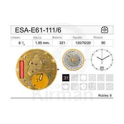 MOVIMIENTO ESA E61-111 CAL.6H