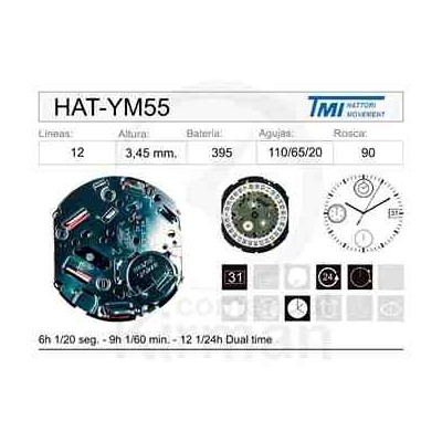 MOVIMIENTO HATTORY YM55