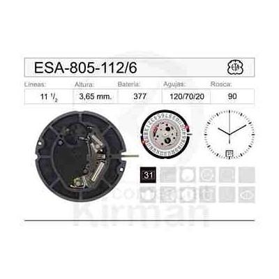MOVIMIENTO ESA 805-112 CAL.6H