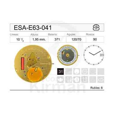 MOVIMIENTO ESA E63-041 CAL.3H