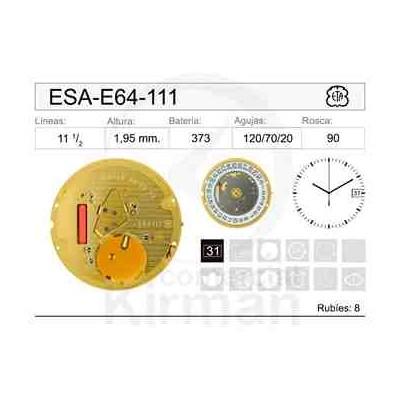 MOVIMIENTO ESA E64-111 CAL.3H