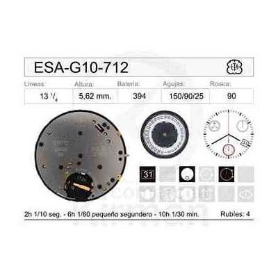 MOVIMIENTO ESA G10-712 CAL.4H
