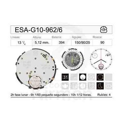 MOVIMIENTO ESA G10-962 CAL.6H