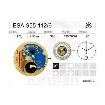MOVIMIENTO ESA 955-112 CAL.6H