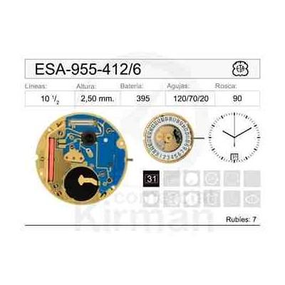 MOVIMIENTO ESA 955-412 CAL.6H