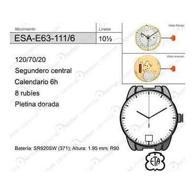 MOVIMIENTO ESA E63-111 CAL.6H