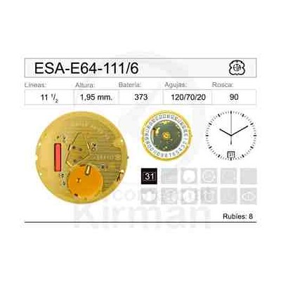 MOVIMIENTO ESA E64-111 CAL.6H