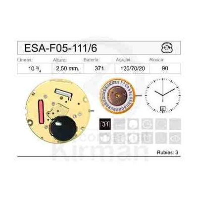 MOVIMIENTO ESA F05-111 CAL.6H