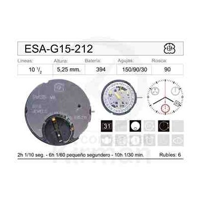 MOVIMIENTO ESA G15-212 CAL.4H