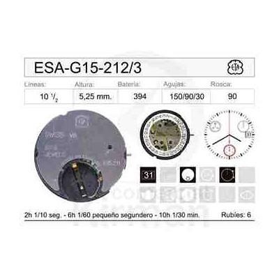 MOVIMIENTO ESA G15-212 CAL.3H
