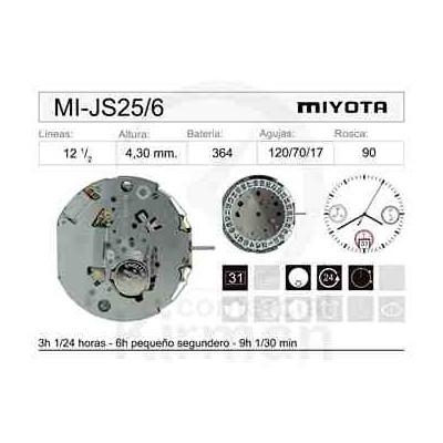 MOVIMIENTO MIYOTA JS25 CAL. 6H