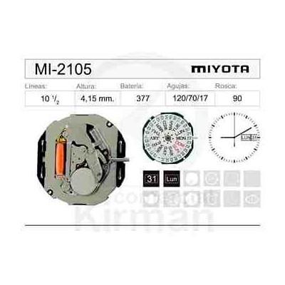 MOVIMIENTO MIYOTA 2105