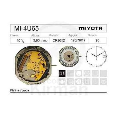 MOVIMIENTO MIYOTA 4U65