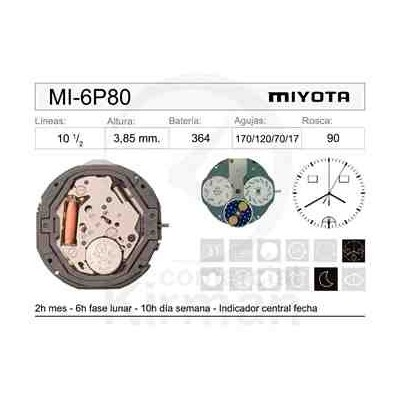MOVIMIENTO MIYOTA 6P80