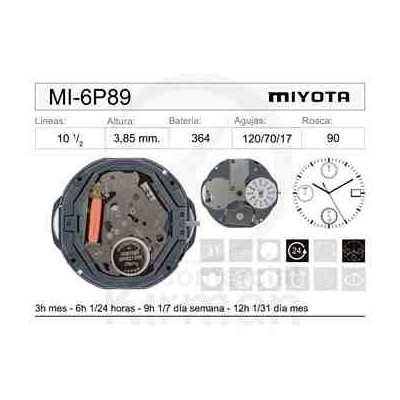 MOVIMIENTO MIYOTA 6P89