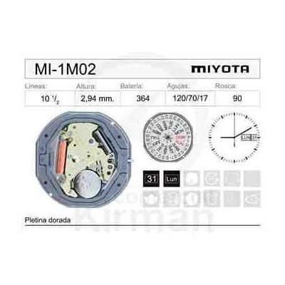 MOVIMIENTO MIYOTA 1M02