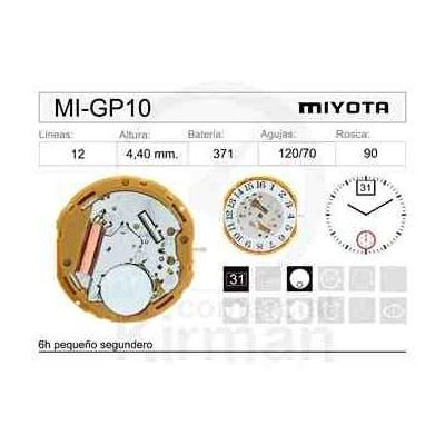 MOVIMIENTO MIYOTA GP10 CAL. 12H