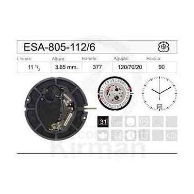 MOVIMIENTO ESA 805-112 CAL. 6H