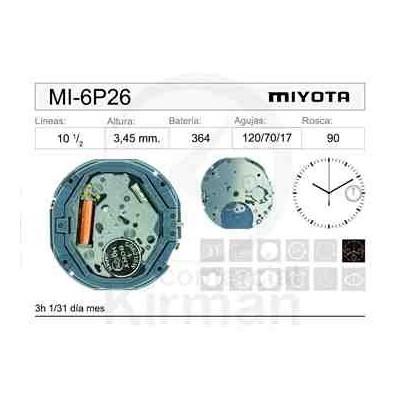 MOVIMIENTO MIYOTA 6P26