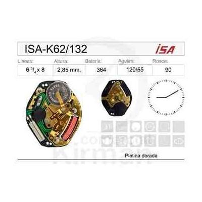 MOVIMIENTO ISA K62/132