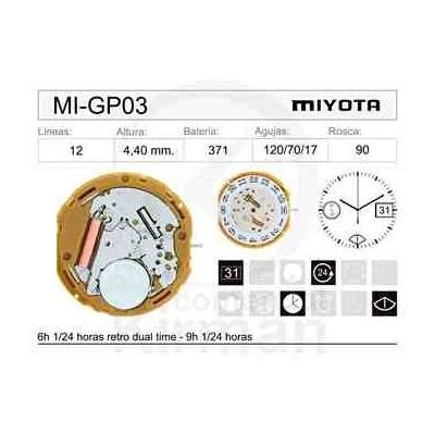 MOVIMIENTO MIYOTA GP03